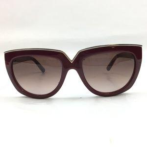 Valentino Purple/Gold Sunglasses [Authenticated]